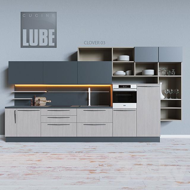 3d Models Kitchen Cucine Lube Clover 03