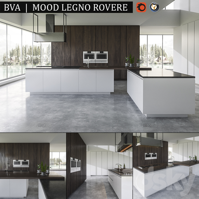 Kitchen BVA Mood Legno Rovere