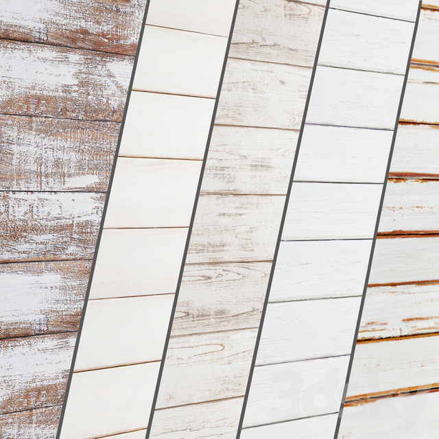 Collection of white panels made of wood 5 pcs.
