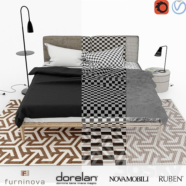 Dorelan + Rubn + Novamobili + Furninova + Scandinavian Bedrom Set