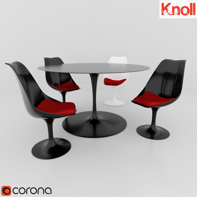 Table and chairs KNOLL