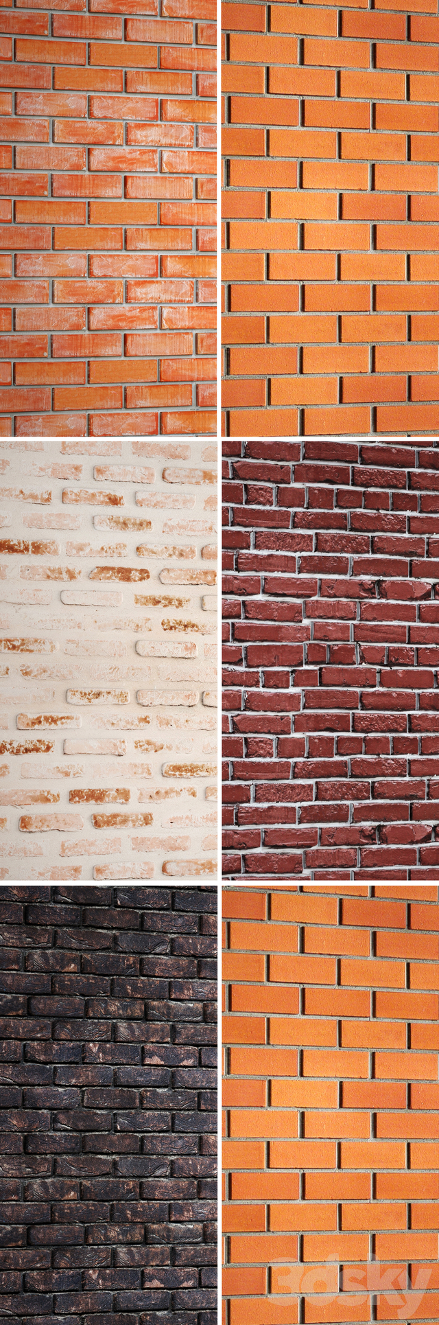 A collection of brick walls. 2