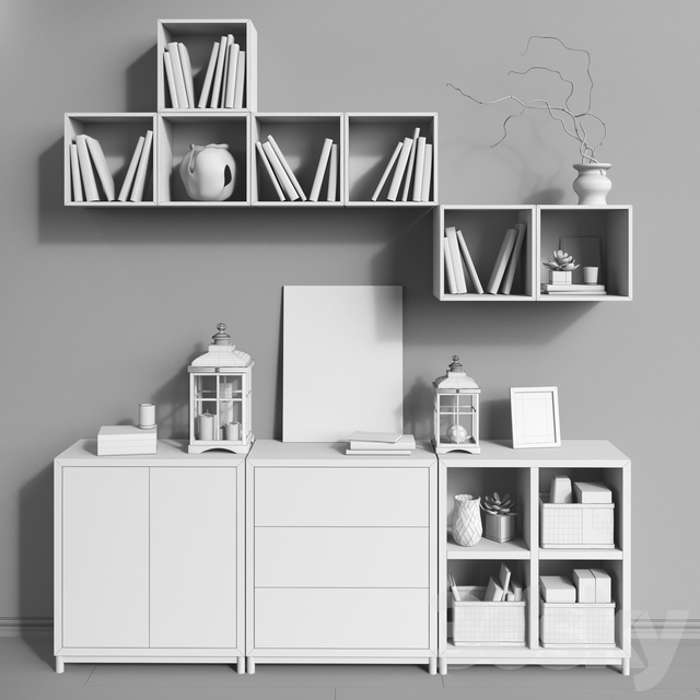 Modular furniture IKEA, accessories and decor set 9