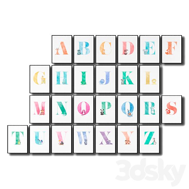 English alphabet for a children's room.