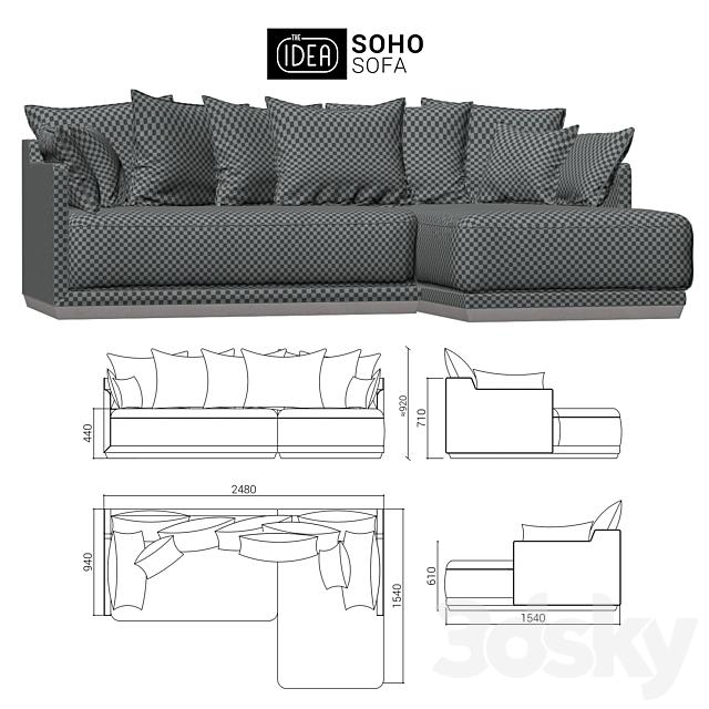 The IDEA Modular Sofa SOHO (item 823-810)