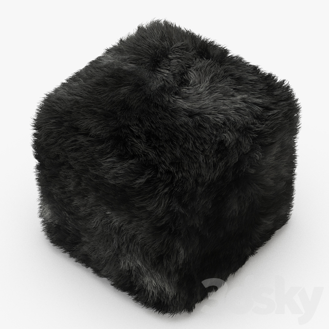 Pure Sheepskin Luxury Foot Stool