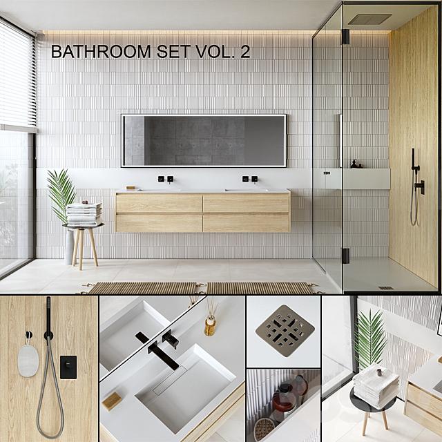 3d Models Bathroom Furniture Bathroom Set 2 Vray Ggx Corona Pbr