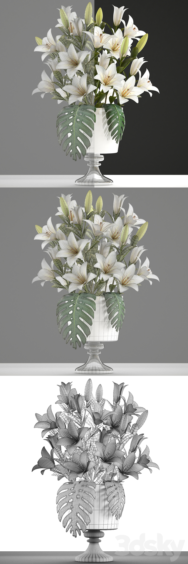 Collection of flowers 51. Bouquet of lilies.