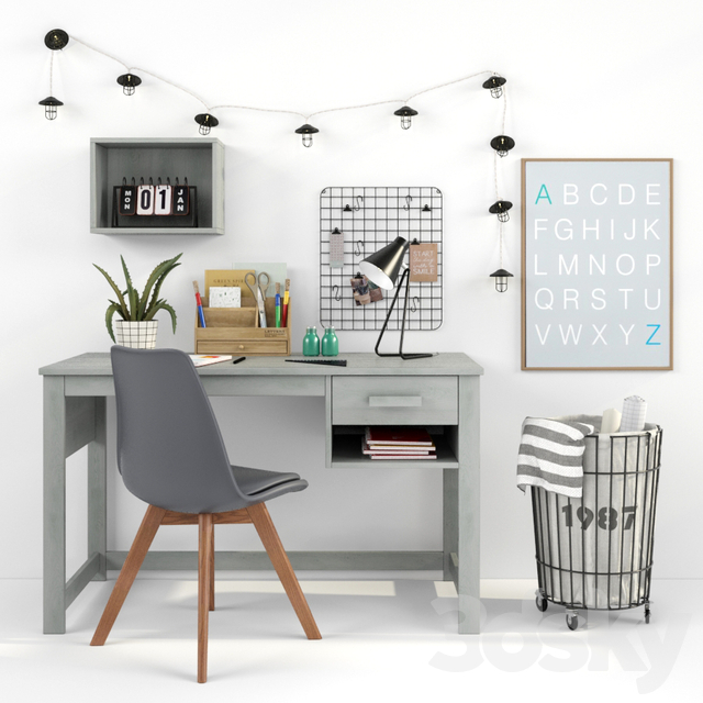 Writing-table and decor for a child 16