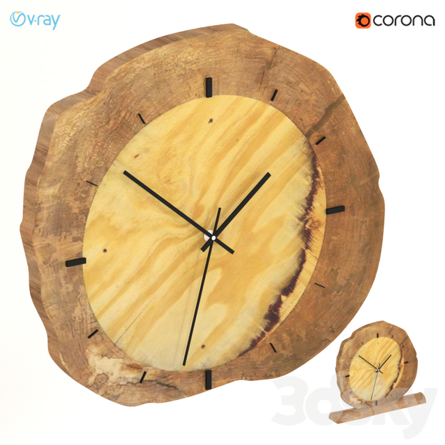 Wall and desk clocks from slab.