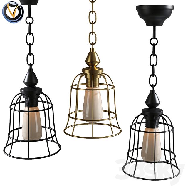 Rustic lighting Kitchen Chandelier Cage Pendant light