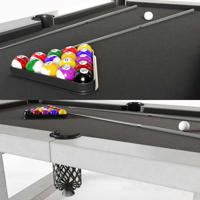James De Wulf Pool Table