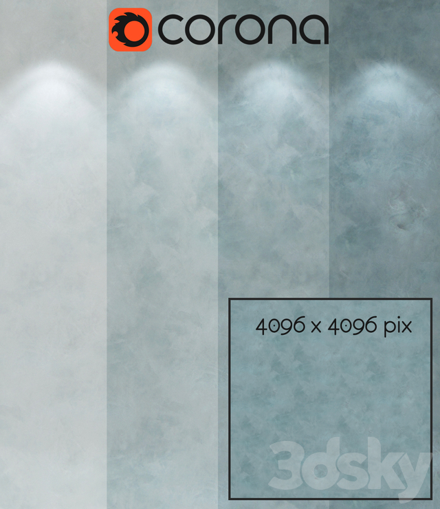 Decorative plaster, single-layer version 210