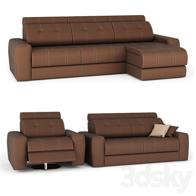 Sofa and armchair Chicago