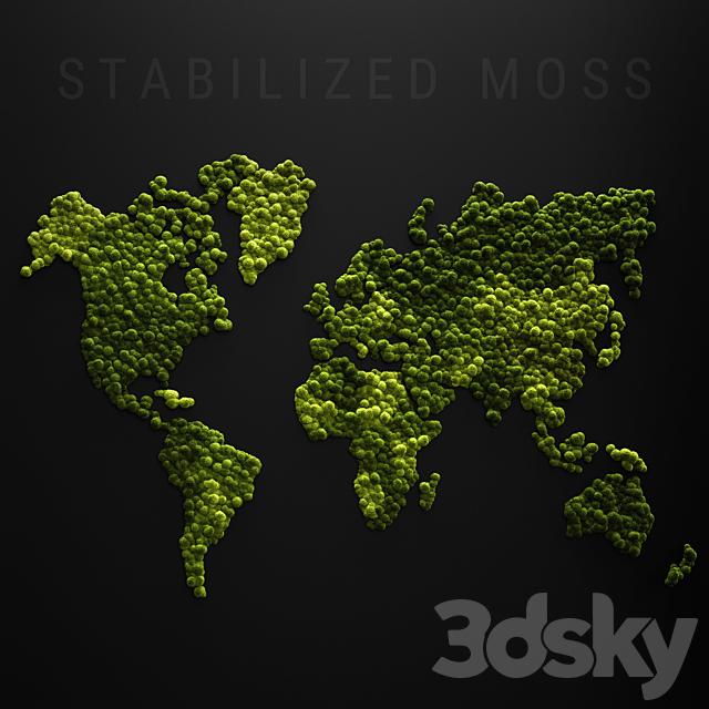 Stabilized moss - world map