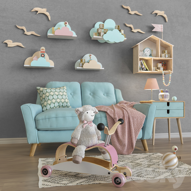 Toys and furniture set 34