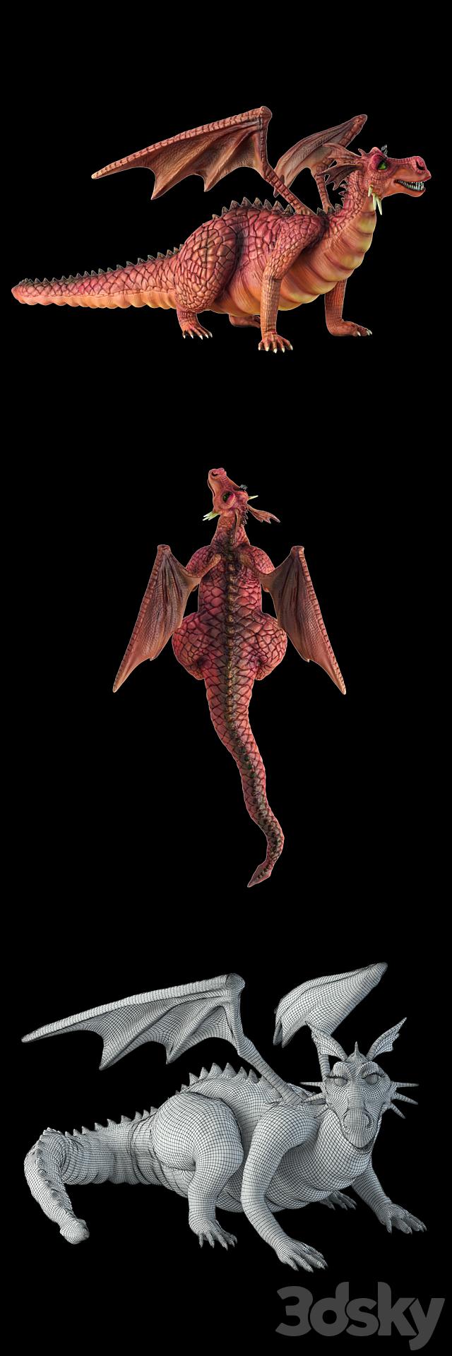 The dragon from the cartoon Shrek