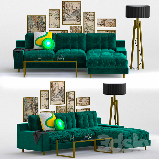 Models Sofa Hendricks Emerald