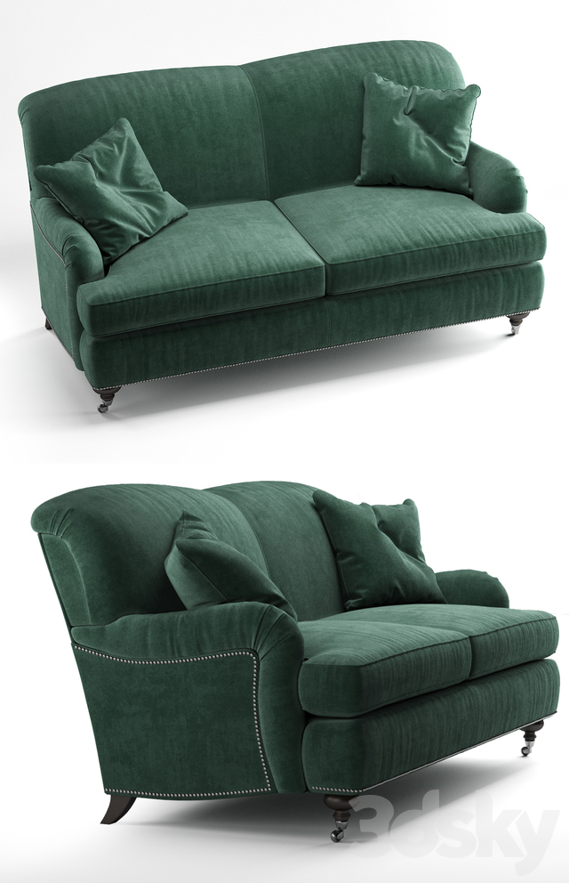 Oxford Sofa Kent Emerald By Ethan Allen