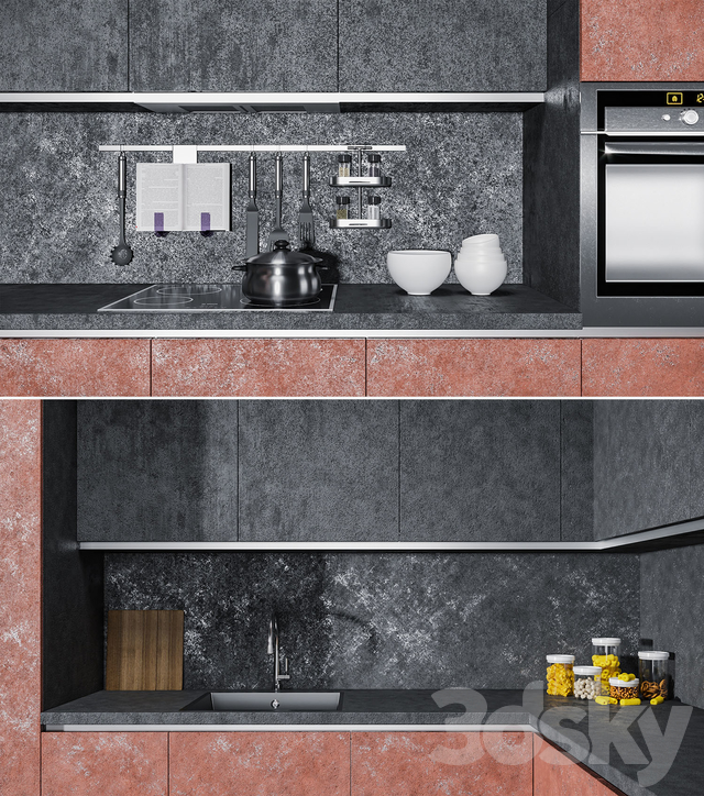 A set of modern kitchen facades Giulia Novars - Crazy Kitchen V.4