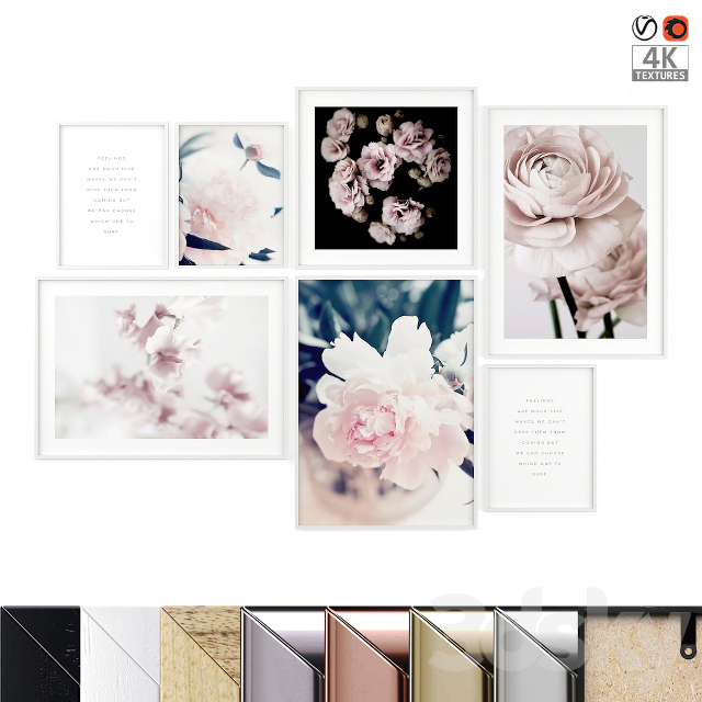 "Poster Set ""Flowers"""