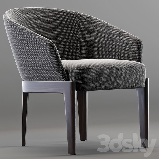 3d Models Arm Chair Molteni Amp C Chelsea Easy Chair