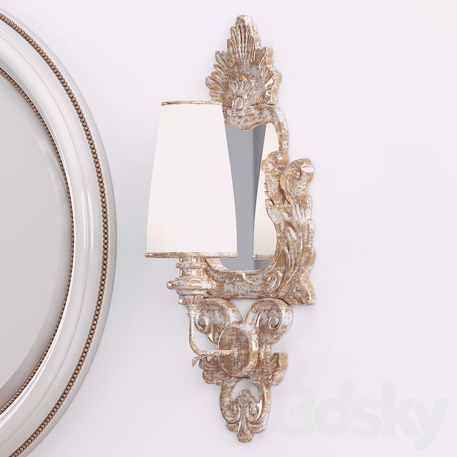 A set of dressers, mirrors and sconces Carpanese