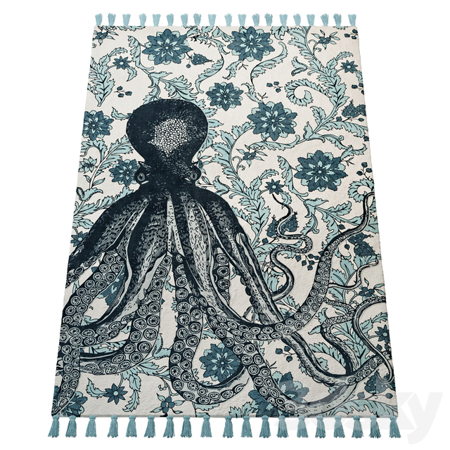 Thomas Paul Printed Flatweave Giant Octopus 200TATP03A-P