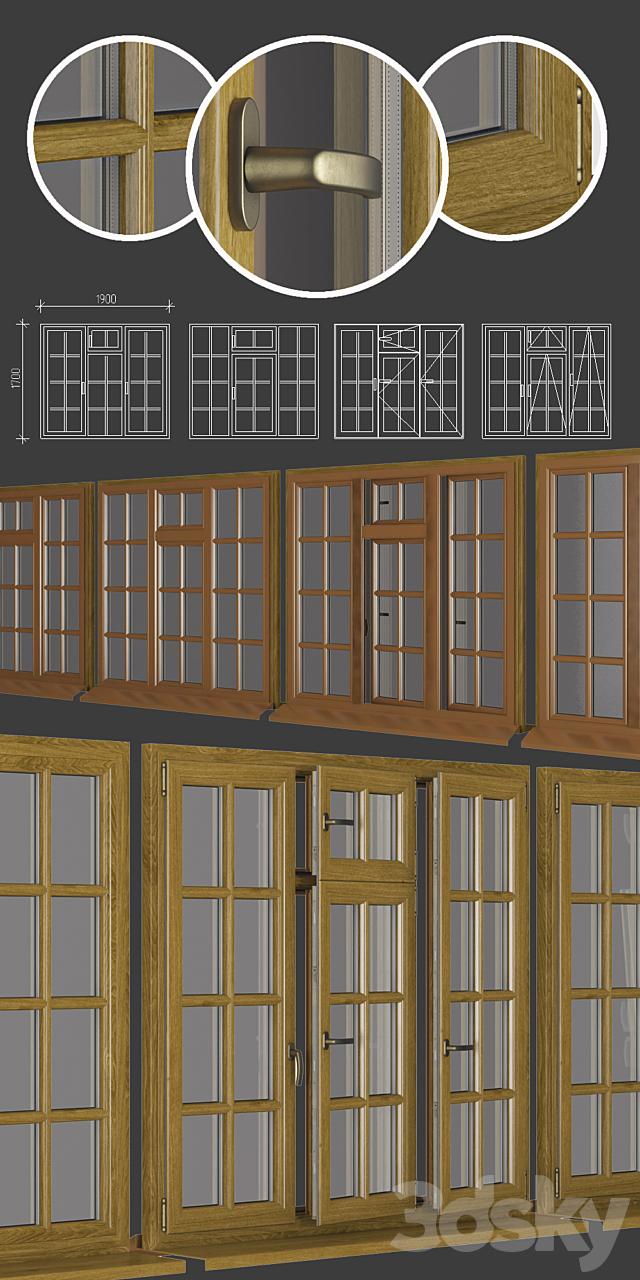 Wood - aluminum windows, view 03 part 01 set 10