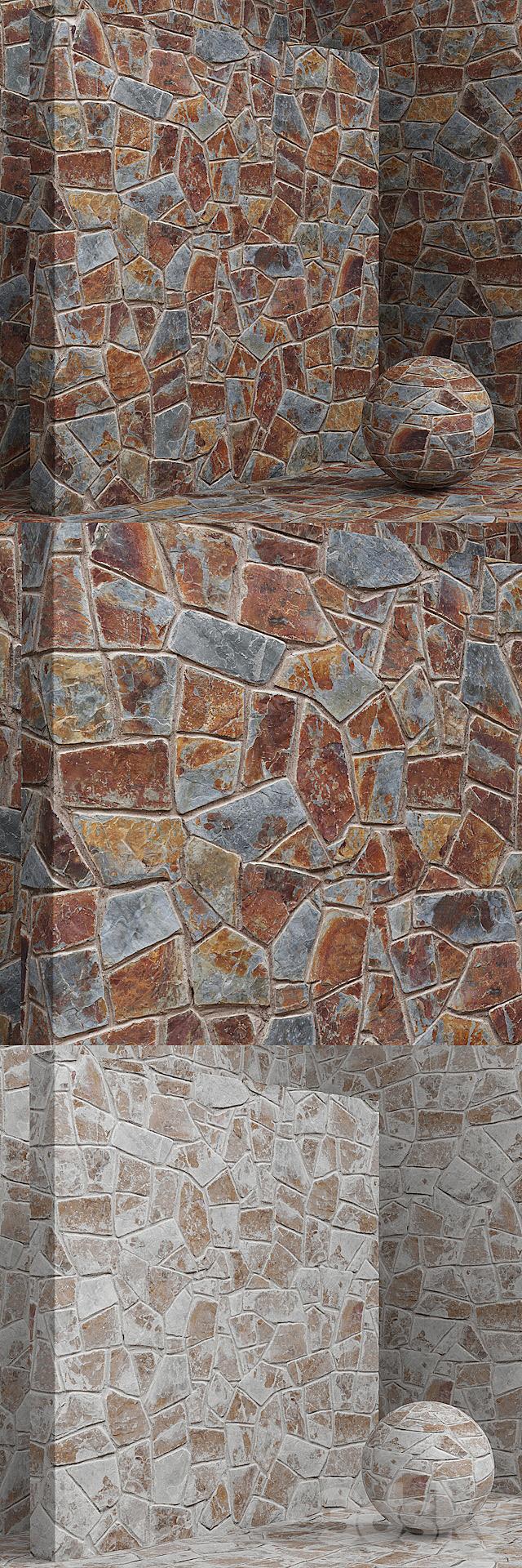 Material (seamless) - stone, masonry set 11