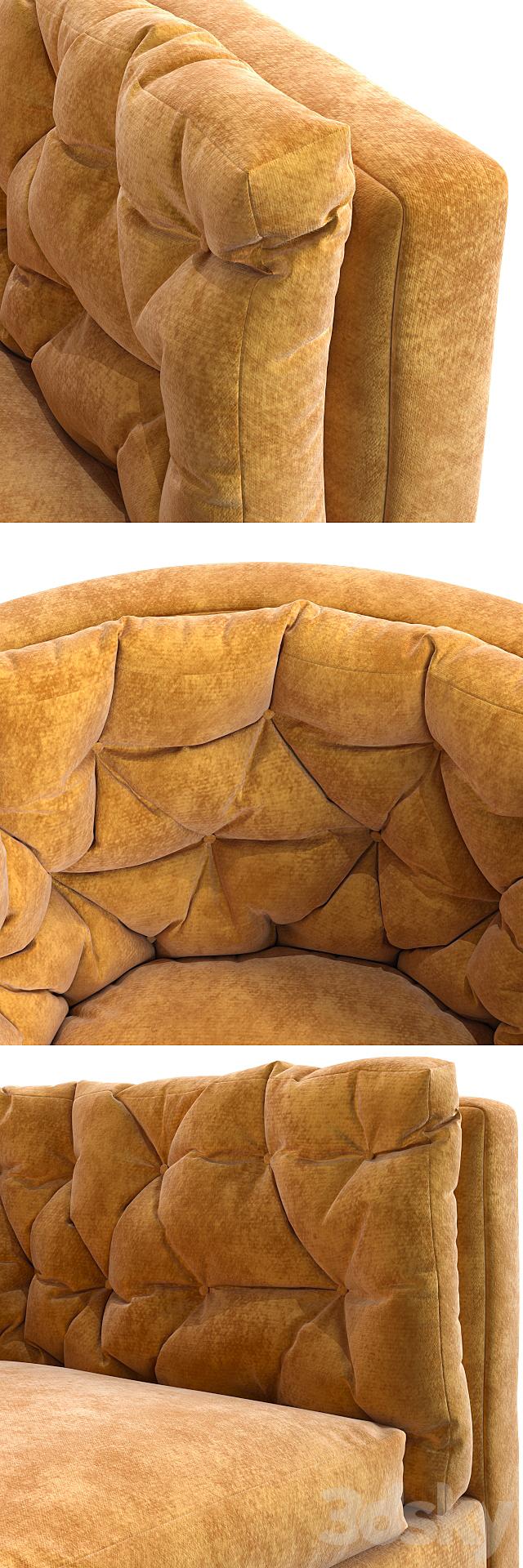 Milo Baughman - Barrel Swivel Chair