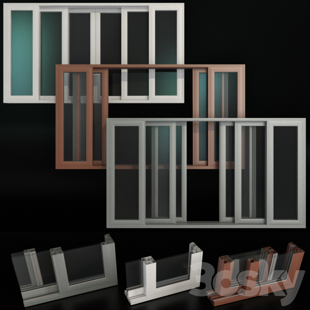 Sliding Stained Glass Aluminum Doors