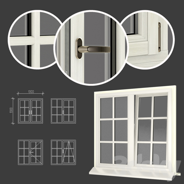 Wood - aluminum windows, view 05 part 01 set 05