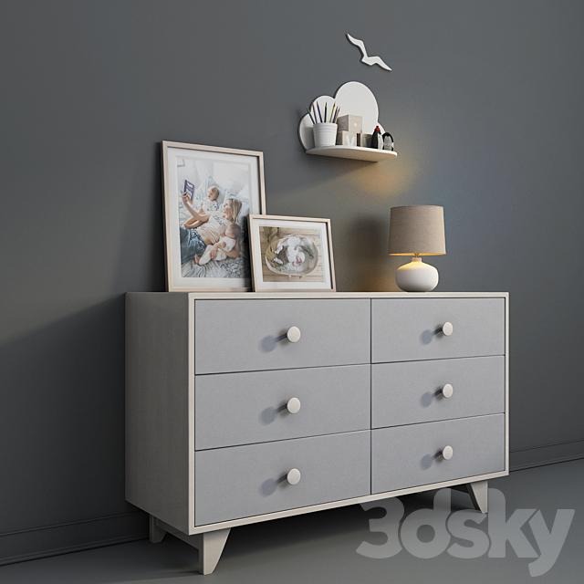 Children's furniture Ellipse, Line collection with decor.