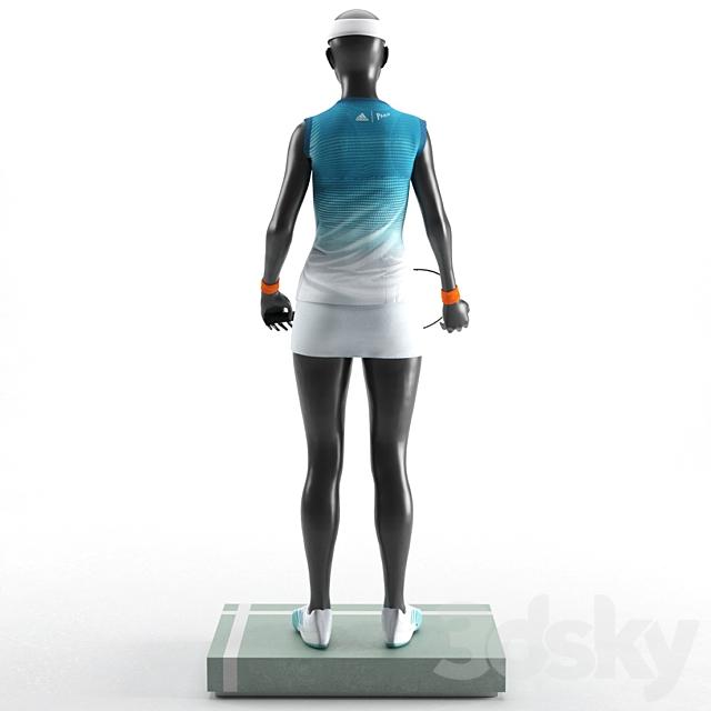 Woman mannequin tennis