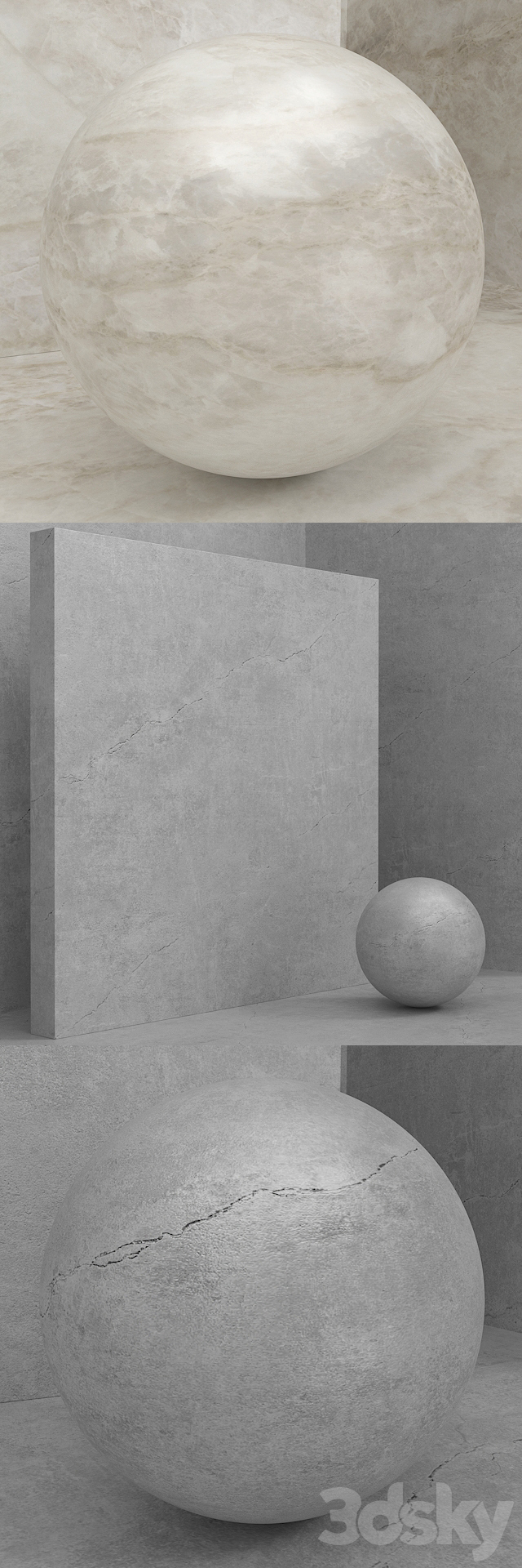 Material (seamless) - stone - Cosentino Dekton set 101