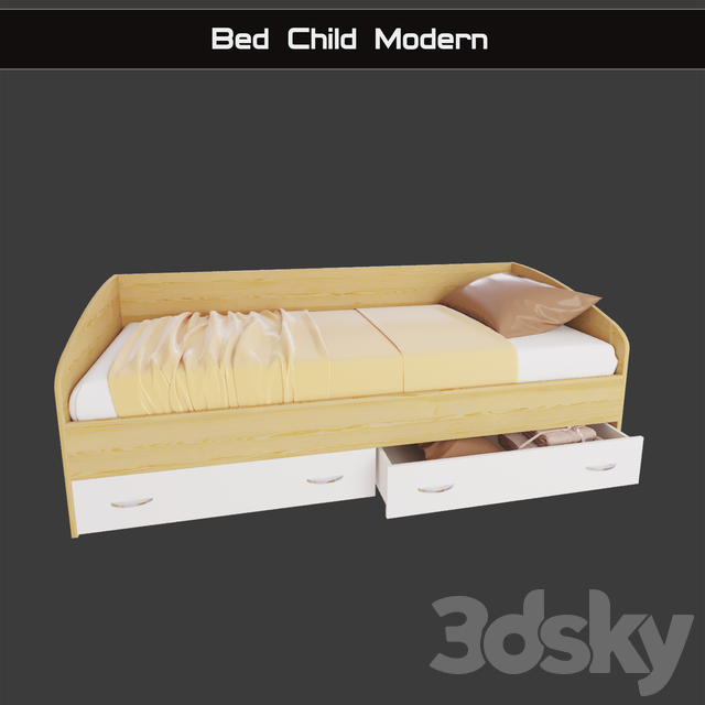 """Children bed """"Modern"""" with drawers"""