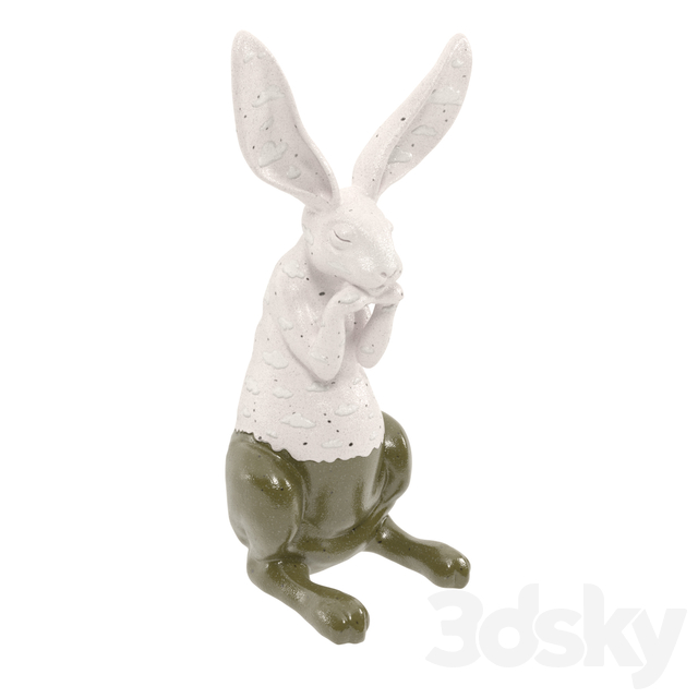 Figure Easter Bunny. Easter rabbit.