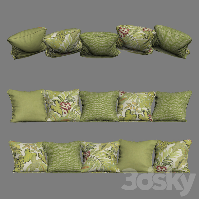 Pillows yellow green YOU