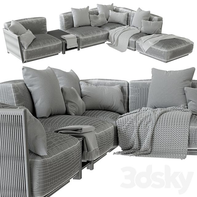 Vulcano Flexform Outdoor Sofa 5