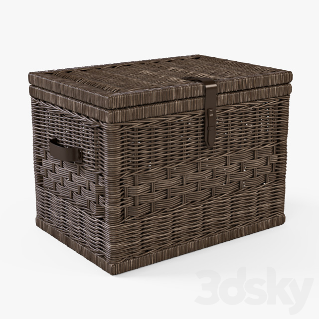 Wicker Chest / Brown