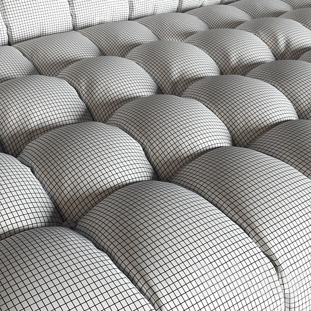 KARE Sofa Milchbar Velvet Mauve 3-Seater (vray NEXT)