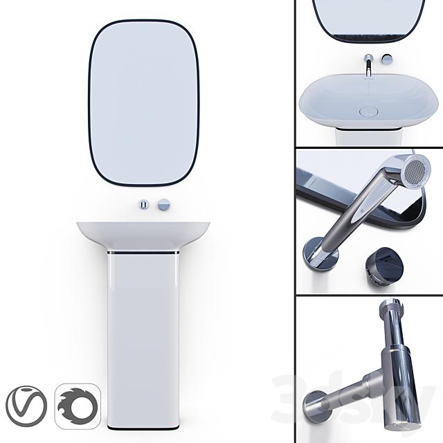 PURE Krion / ESPEJO PURE NEGRO / Bathroom Taps TONO / Siphon Noken
