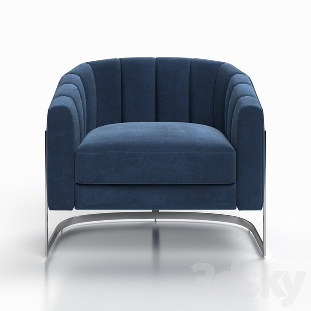 Chair ZW-777 BLU SS Garda Decor