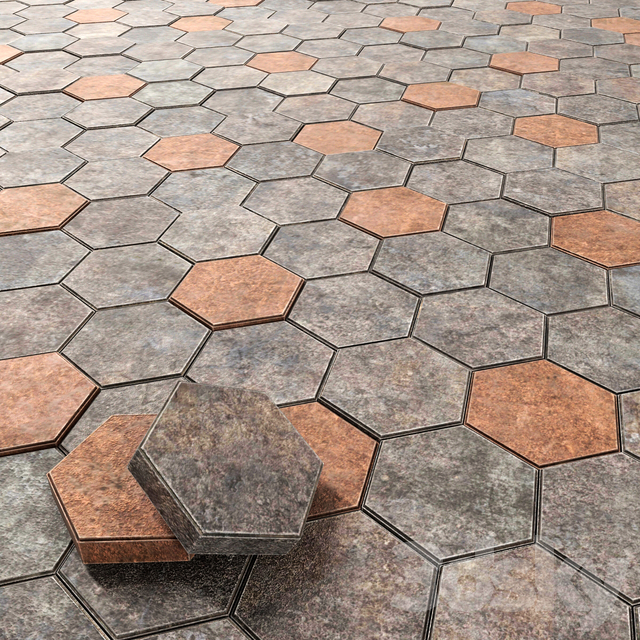 Paving hexagon / Hexagonal Cobbles