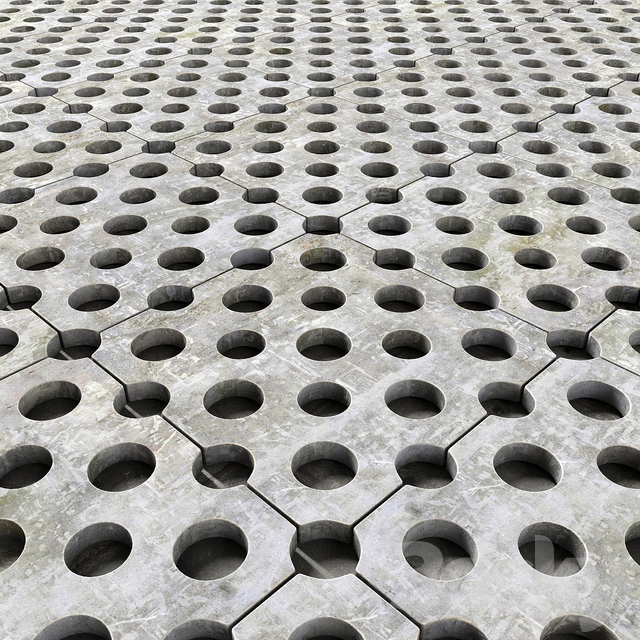 Paving title hole / paving slab with holes