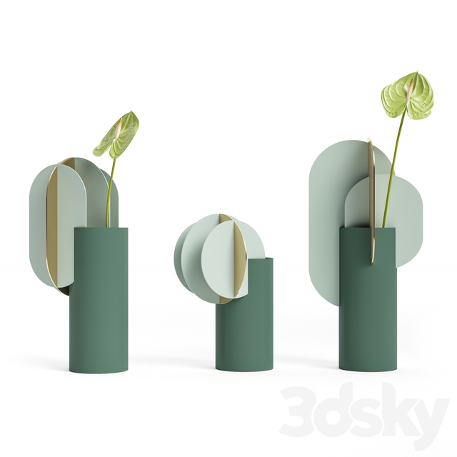 (OM) Gabo and Delaunay and Ekster vases CS9 by NOOM