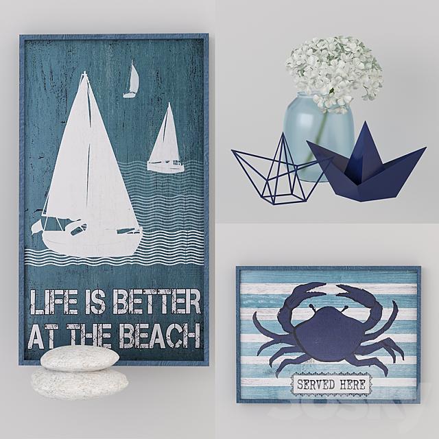 "Decorative set ""Sea"""