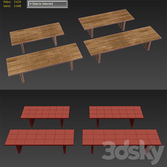 RECLAIMED RUSSIAN OAK PLANK RECTANGULAR DINING TABLE Large