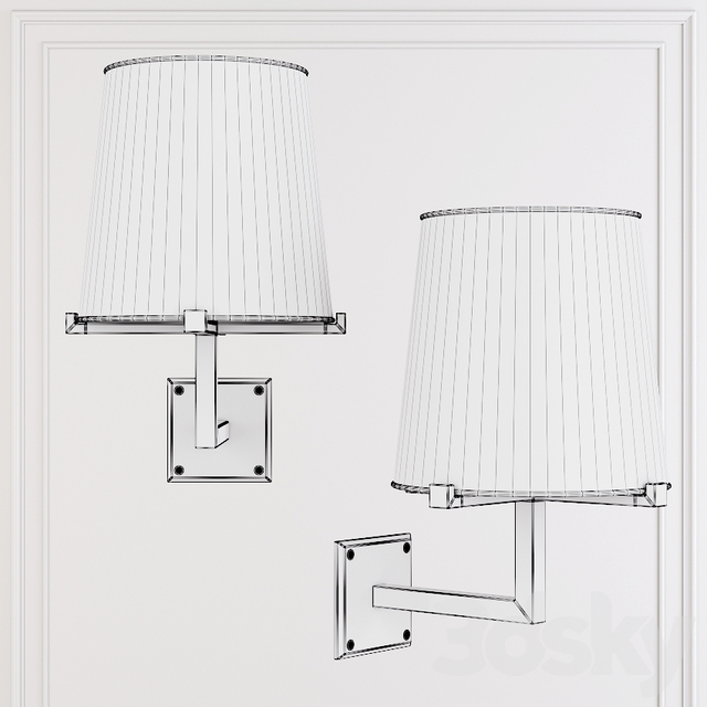 Restoration Hardware PAUILLAC GRAND SCONCE Fabric shade and Nickel